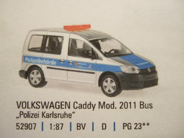 rietze vw caddy polizei karlsruhe. Black Bedroom Furniture Sets. Home Design Ideas