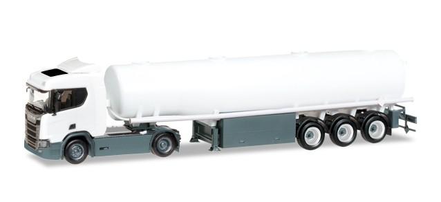Herpa Minikit: Scania CR 20 ND Benzintank-Sattelzug, unbedruckt