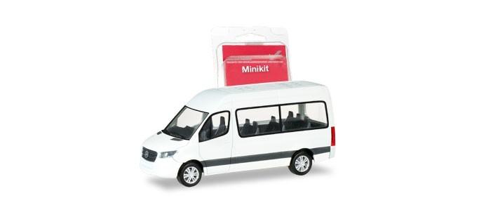 Herpa Mini-Kit MB Sprinter 18 Bus in weiß,NH 09-10/18,(Vorbestellung / Modell noch nicht lieferbar !!!)
