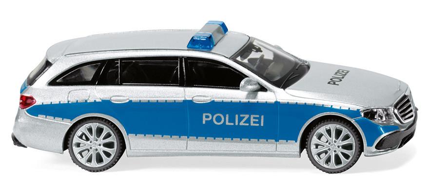Wiking MB E-Klasse T-Modell Polizei silber / Blau