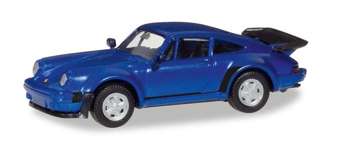 Herpa Porsche 911 Turbo, blaumetallic