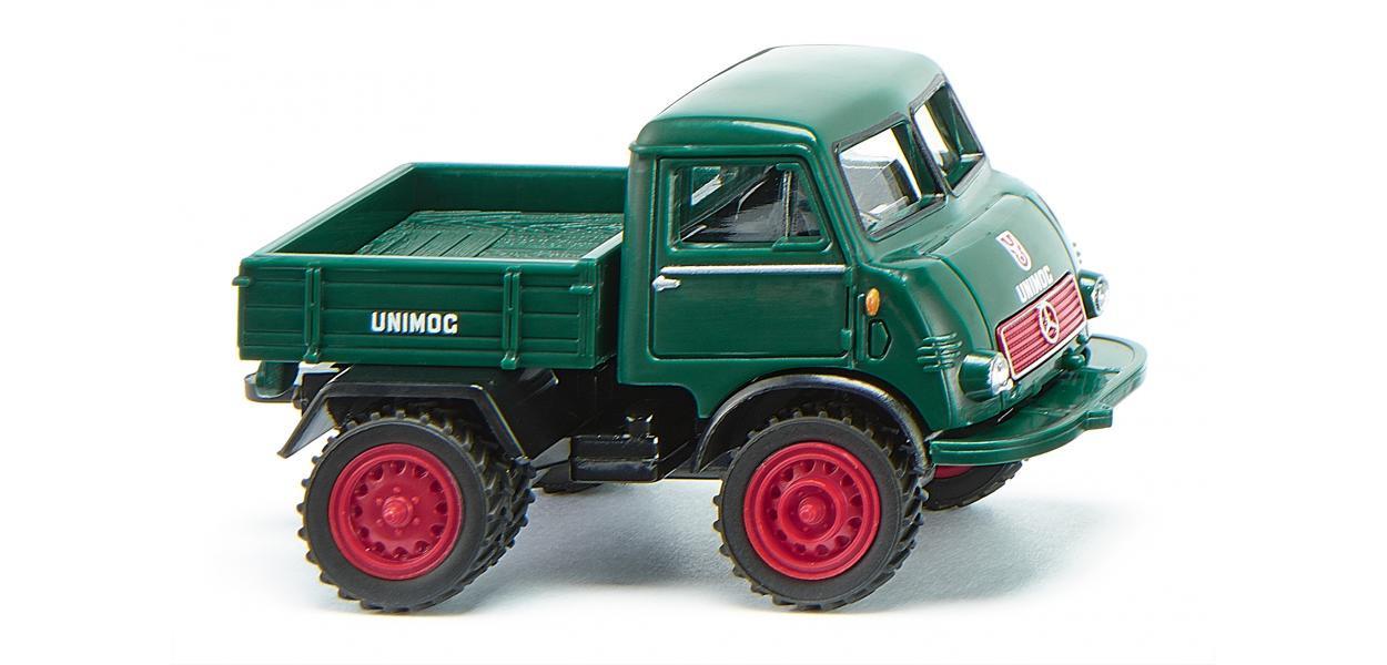 Wiking Unimog U 401 mit Doppelbereifung - moosgrün