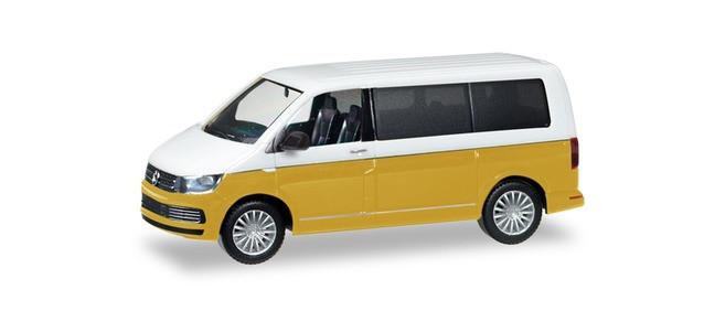 Herpa  VW T6 Multivan Bicolor, candyweiß / kurkumagelb metallic