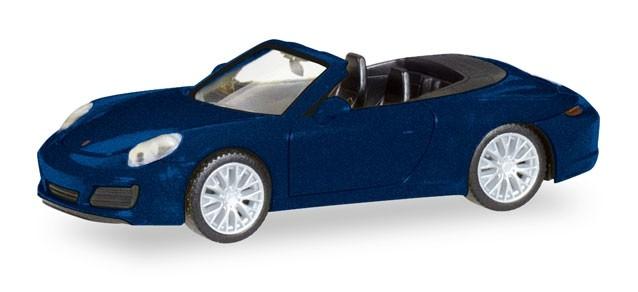Herpa Porsche 911 Carrera 4S Cabrio, nachtblaumetallic (Einzelstück)