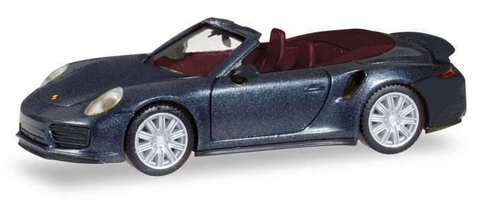 Herpa Porsche 911 Turbo Cabriolet, tiefschwarzmetallic