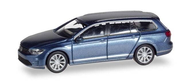 Herpa VW Passat Variant GTE E-Hybrid, havardblue metallic