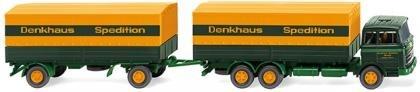 """Wiking Pritschenhängerzug (MB 2223) """"Sped. Denkhaus"""""""