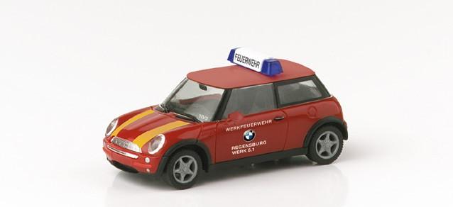 Herpa Mini Cooper BMW Werksfeuerwehr Regensburg -Einzelstück-