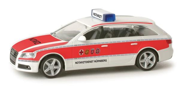 Herpa Audi A4 Avant NEF Notarztdienst Nürnberg