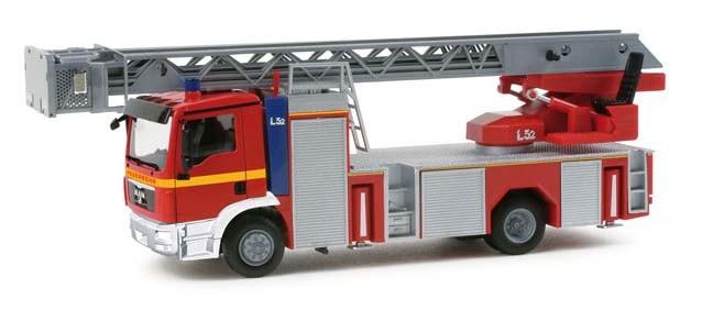 """Herpa MAN TGM Drehleiter L32 """"Feuerwehr"""" (Restmenge)"""