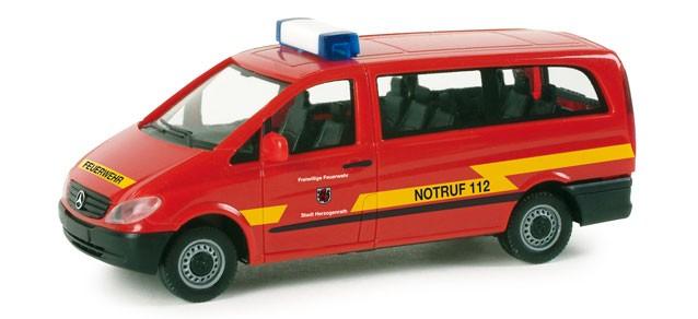 Herpa MB Vito Bus Feuerwehr Herzogenrath