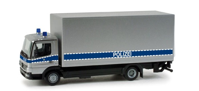 Herpa MB Atego 04 Koffer-LKW Polizei