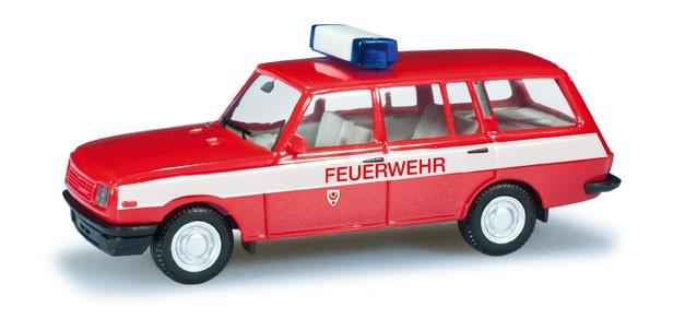 """Herpa Wartburg 353 Tourist """"Feuerwehr Halle"""" (Einzelstück)"""