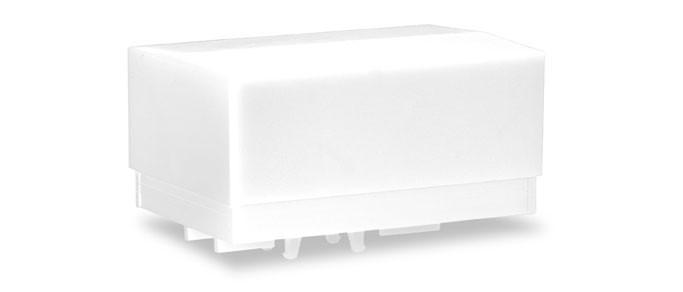 Herpa Zubehör Ballastpritschen groß für Schwerlastzugmaschine, weiß (2 Stück)