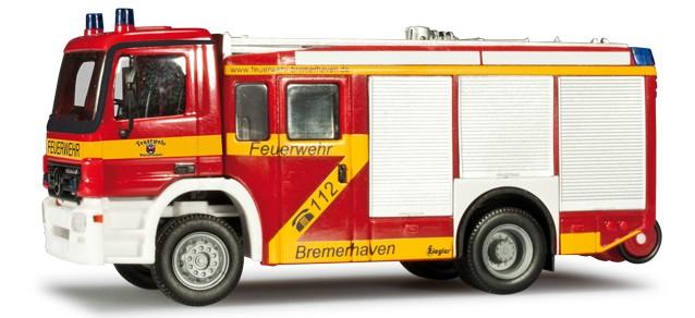 Herpa MB Actros MP2 HLF 2000 Feuerwehr Bremerhaven  -Einzelstück-