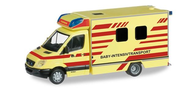 Herpa MB Sprinter 06 Baby-ITW Feuerwehr Dresden