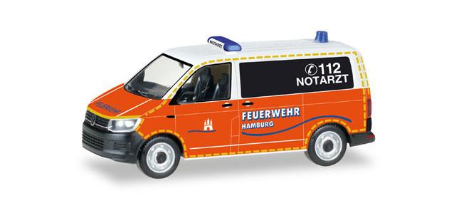 """Herpa VW T6 Bus """"Notarzt Feuerwehr Hamburg"""" (Einzelstück)"""