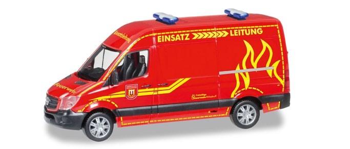 Herpa MB Sprinter 13 ELW Feuerwehr Wilsdruff, NH 03-04 / 2018