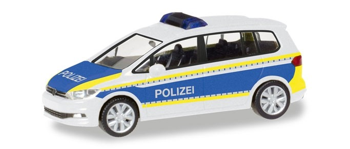 Herpa VW Touran Polizei Brandenburg, NH 03-04 / 2018