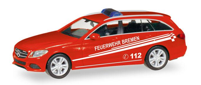 """Herpa MB C-Klasse T-Modell """"Feuerwehr Bremen"""" (Einzelstück)"""