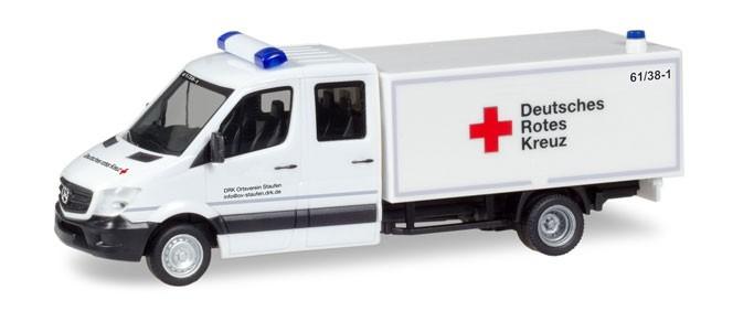 """Herpa MB Sprinter Doppel-Kabine mit Koffer """"DRK Staufen"""", NH 05-06/18"""