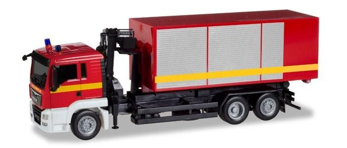 """Herpa MAN TGS L WLF mit Kran """"Feuerwehr"""",NH 05-06/18"""