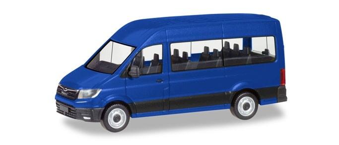 Herpa MAN TGE Bus, ultramarinblau