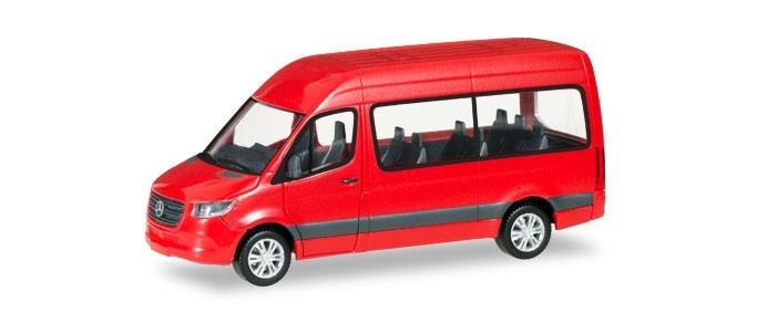 Herpa MB Sprinter 18 HD Bus in rot -Einzelstück-