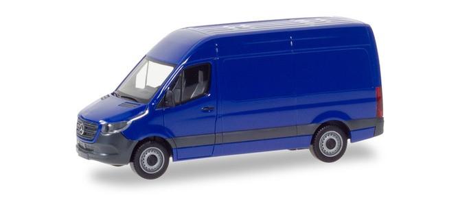 Herpa Mercedes-Benz Sprinter Kasten Hochdach, ultramarinblau (Einzelstück)