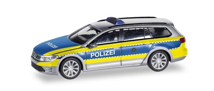 Herpa VW Passat Variant GTE Polizei Wolfsburg