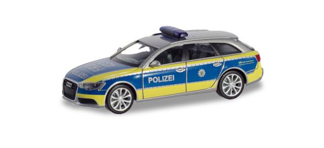 "Herpa Audi A6 ® Avant ""Polizei Baden-Württemberg"" (Einzelstück)"