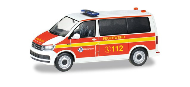 """Herpa VW T6 Bus MTW """"Freiwillige Feuerwehr Norderstedt"""", NH 03-04/19"""