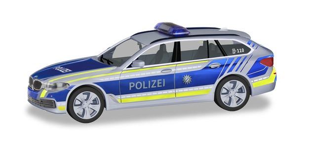 """Herpa BMW 5er Touring """"Polizei Bayern"""", NH 07-08/19 (Einzelstück)"""