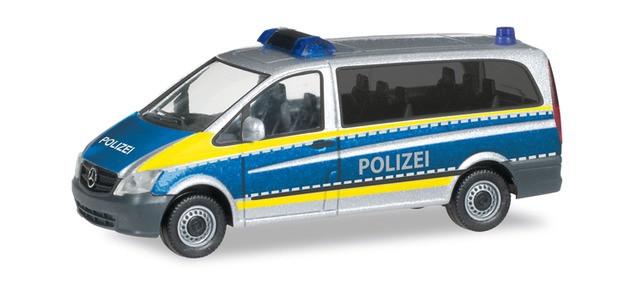 """Herpa MB Vito """"Polizei Saarland"""", NH 09-10/19, (Vorbestellung / Modell noch nicht lieferbar !!!)"""