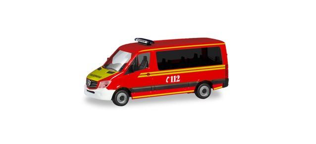 """Herpa MB Sprinter 13 Bus FD """"MZF Feuerwehr München"""", NH 09-10/19"""