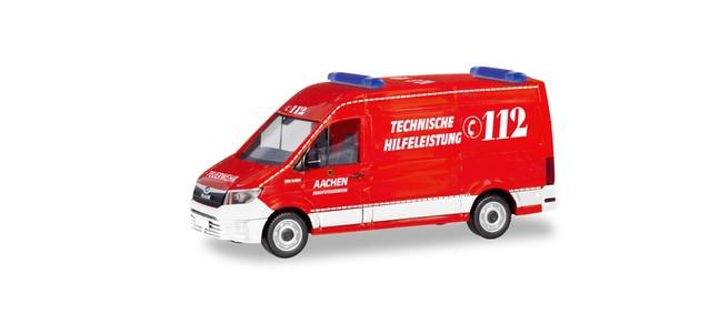 """Herpa MAN TGE Kasten TH """"Feuerwehr Aachen"""", NH 11-12/19,(Vorbestellung / Modell noch nicht lieferbar !!!)"""
