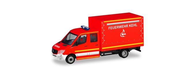 """Herpa MB Sprinter 13 DOKA P/P """"Feuerwehr Kehl"""", NH 11-12/19"""