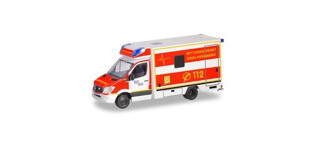 """Herpa MB Sprinter 13 Koffer RTW """"RD Kreis Heinsberg"""", NH 11-12/19,(Vorbestellung / Modell noch nicht lieferbar !!!)"""