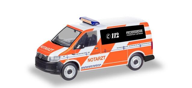 """Herpa VW T6 Bus NEF """"Feuerwehr Frankfurt am Main"""", NH 11-12/19"""