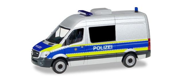 """Herpa MB Sprinter 13 """"Polizei Berlin / Gefahrgutüberwachung"""", NH 01-02/20,(Vorbestellung / Modell noch nicht lieferbar !!!)"""