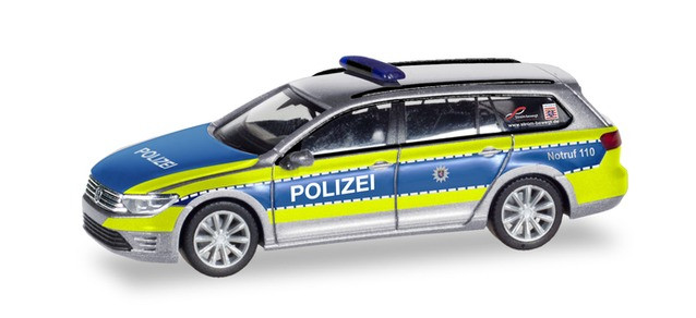 """Herpa VW Passat GTE """"Polizei Hessen"""", NH 01-02/20,(Vorbestellung / Modell noch nicht lieferbar !!!)"""
