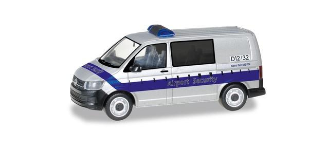 """Herpa VW T6 Bus """" FRAPORT Airport Security """", NH 05-06/20,(Vorbestellung / Modell noch nicht lieferbar !!!)"""