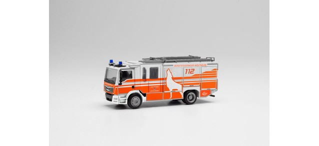 """Herpa MAN TGM E6 Z-Cab """" HLF 20 Feuerwehr Wolfsburg """", NH 05-06/20,(Vorbestellung / Modell noch nicht lieferbar !!!)"""