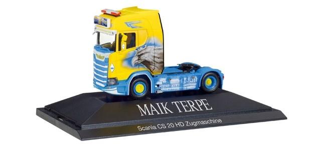 "Herpa Scania CS 20 HD Zugmaschine ""Maik Terpe"""