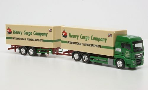 "Herpa MAN TGS LX Hängerzug  ""Heavy Cargo"" -Einzelstück-"