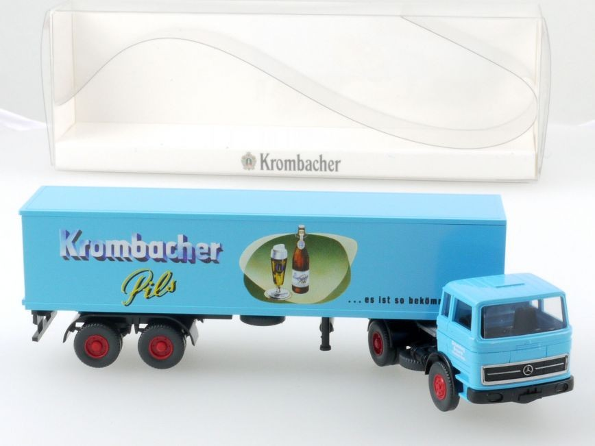 Wiking MB LPS 1620 Koffer-Sattelzug Krombacher