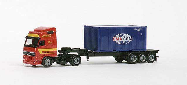 """Herpa  Volvo FH GL Container-Sattelzug """"CMA/CGM"""" -Einzelstück-"""