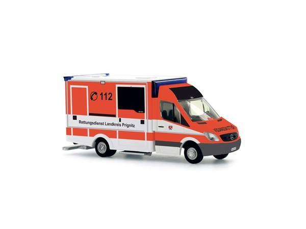 Rietze Einsatz Serie MB Sprinter 06 RTW Rettungsdienst Prignitz