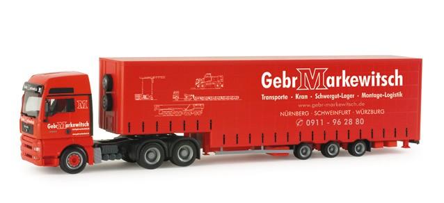 """Herpa MAN TGA XXL Volumen-Sattelzug """"Markewitsch"""""""