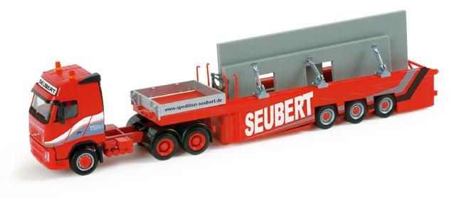 """Herpa Volvo FH GL Betonfertigteiletransporter """"Seubert"""" (Einzelstück)"""